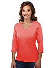 Tri-Mountain 131 Women Mystique Cotton Interlock V-Neck Knit at GotApparel