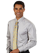 Van Heusen 13V0067 Men Long Sleeve Easy Care Pinpoint Oxford Dress Shirt at GotApparel