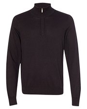 Van Heusen 13VS005 Men Quarter-Zip Mock Neck Sweater at GotApparel