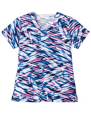 Fundamentals 14354 Women Overlap V-Neck Top at GotApparel