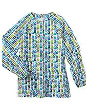 White Swan 14373 Bio Prints Raglan Sleeve Warm Up Jacket at GotApparel