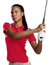 TM Performance 143 Women's Blitz Ultracool Knit Polo Shirt at GotApparel