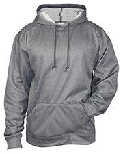 Badger 1450 Men Pro Heather Fleece Hooded Sweatshirt at GotApparel