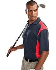 Tri-Mountain 145 Men Blitz Short-Sleeve Ultracool Golf Shirt With Rib Collar at GotApparel