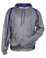Badger 1467 Men 100% Polyester Performance Fusion Hooded Sweatshirt at GotApparel