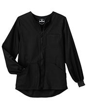 White Swan 14755 Fundamentals 3 Four Pocket Warm Up Jacket at GotApparel