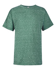 Delta 14900 Boys Ringspun Youth Retail Fit Snow Heather Tee at GotApparel