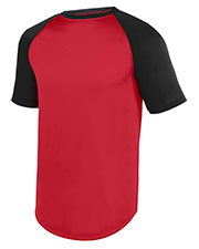 Augusta 1509 Boys Wicking Short Sleeve Baseball Jersey at GotApparel