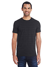 Threadfast Apparel 152A Men 4.2 oz Invisible Stripe Short-Sleeve T-Shirt at GotApparel