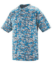 Augusta 1555 Adult Digi Camo Wicking Two botton Jersey at GotApparel
