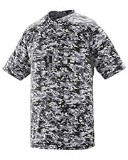 Augusta 1556 Boys Digi Camo Wicking Two botton Jersey at GotApparel