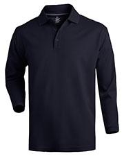 Edwards 1578 Men Dry-Mesh Long-Sleeve Polo Shirt at GotApparel