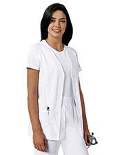 Cherokee 1602 Women Button Front Vest at GotApparel
