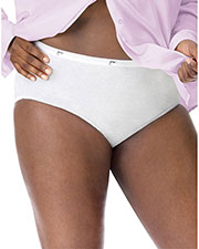 Just My Size 1610 Women Cotton TAGLESS Brief Panties 5Pack at GotApparel