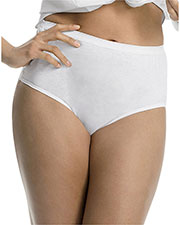 Just My Size 1610W5 Women Cotton TAGLESS Brief Panties 5Pack, Basic Assortment at GotApparel