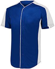 Augusta 1655 Men Full Button Baseball Jersey at GotApparel
