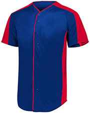 Augusta 1655 Men Full Button Baseball Jersey at GotApparel