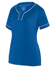 Augusta 1671 Girls Overpower Two-Button Jersey at GotApparel