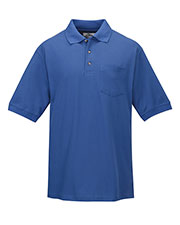 Tri-Mountain 169 Men Signature Pique Pocketed Golf Shirt at GotApparel