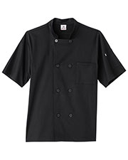 Five Star Unisex 18516 Short Sleeve Stretch Executive Chef Coat at GotApparel