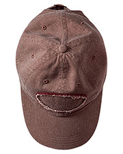 Authentic Pigment 1917 Unisex Raw Edge Patch Cap at GotApparel