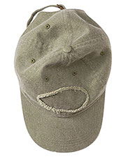 Authentic Pigment 1917 Unisex Raw Edge Patch Cap at GotApparel