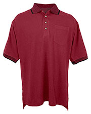 Tri-Mountain 197 Men Pique Pocket Golf Shirt at GotApparel