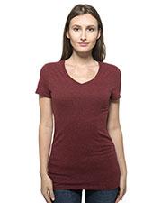 Threadfast Apparel 202B Women 4.1 oz Triblend Short-Sleeve V-Neck T-Shirt at GotApparel