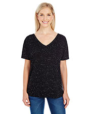 Threadfast Apparel 203FV Women 4.1 oz Triblend Fleck Short-Sleeve V-Neck T-Shirt at GotApparel