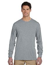 Jerzees 21ML Men 5.3 Oz. 100% Polyester Sport With Moisture Wicking Long-Sleeve T-Shirt at GotApparel