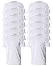 Jerzees 21M Men 5.3 Oz. 100% Polyester Sport With Moisture Wicking T-Shirt 12-Pack at GotApparel