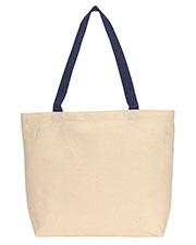 Gemline 220 Unisex Colored Handle Tote at GotApparel