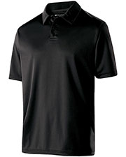 Holloway 222519 Men Polyester Textured Stripe Shift Polo at GotApparel