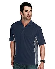 Tri-Mountain 226 Men Gt-2 Rib Collar Knit Polo Shirt  at GotApparel