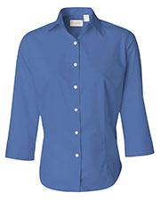Van Heusen 13V0527 Women Three-Quarter Sleeve Baby Twill Shirt at GotApparel