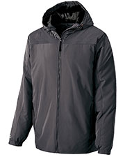 Holloway 229017 Men Polyester Full Zip Bionic Hooded Jacket at GotApparel