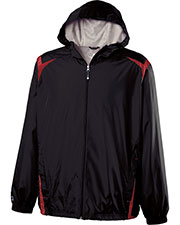 Holloway 229076 Men Polyester Full Zip Hooded Collision Jacket at GotApparel