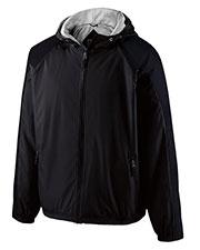 Holloway 229111 Men Polyester Full Zip Hooded Homefield Jacket at GotApparel