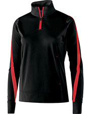Holloway 229392 Women Polyester 1/4 Zip Determination Pullover at GotApparel