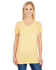 Threadfast Apparel 230B Women 4.3 oz Pigment-Dye Short-Sleeve V-Neck T-Shirt at GotApparel