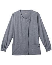Jockey® 2348 Women Solid Illusion™Leopard Tonal Print Warm Up Jacket at GotApparel