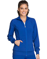 Cherokee 2391A Women Zip Front Warm-Up Jacket at GotApparel
