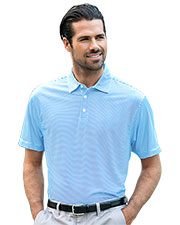 Vansport 2420 Men Pro Tonal Micro-Stripe Polo at GotApparel
