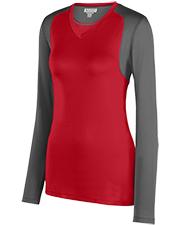 Augusta 2522 Women Lds Astonish Lng Sleeve Jersey at GotApparel