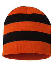 Sportsman SP01 Unisex Rugby Striped Knit Beanie at GotApparel