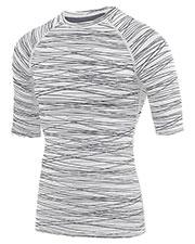 Augusta 2606 Men Hyperform Compression Half Sleeve Shirt at GotApparel