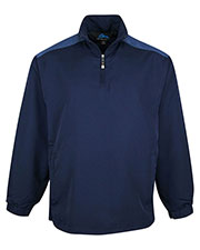 Tri-Mountain 2650 Men Parkview Water Resistant 1/4-Zip Wind Shirt at GotApparel