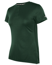 Champion 2652TL women Two Button Henley at GotApparel