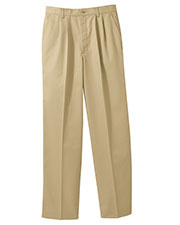 Edwards 2670 Men Blended Chino Pleated Pant at GotApparel