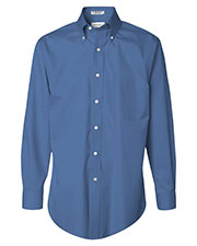 Van Heusen 13V0143 Men Non-Iron Pinpoint Oxford Shirt at GotApparel